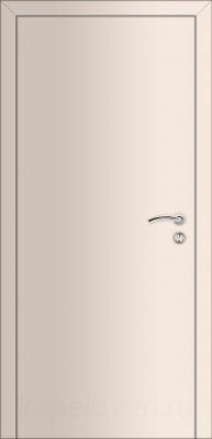 Межкомнатная дверь Капель Classic ПВХ гладкая моноколор кремовый 9001